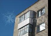Алюминиевое остекление с крышей, П-образный балкон