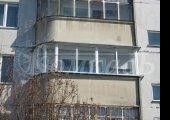 Алюминиевое остекление, полукруглого балкона
