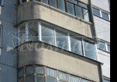 Две створки на полукруге при остеклении балкона алюминиевым профилем