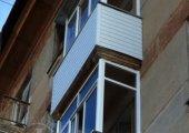 два алюминиевых балкона