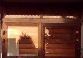 Алмюиниевые двери на веранду